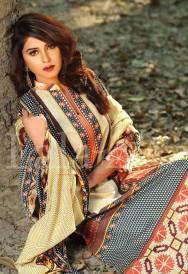 Winter Khaadi Printed Shalwar Kameez By Lala Textiles 2015-16 4