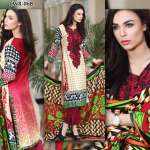 Red embroidery shalwar kameez