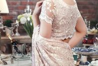 Embroidered Fabric Sarees Thredz & Motifz 2016