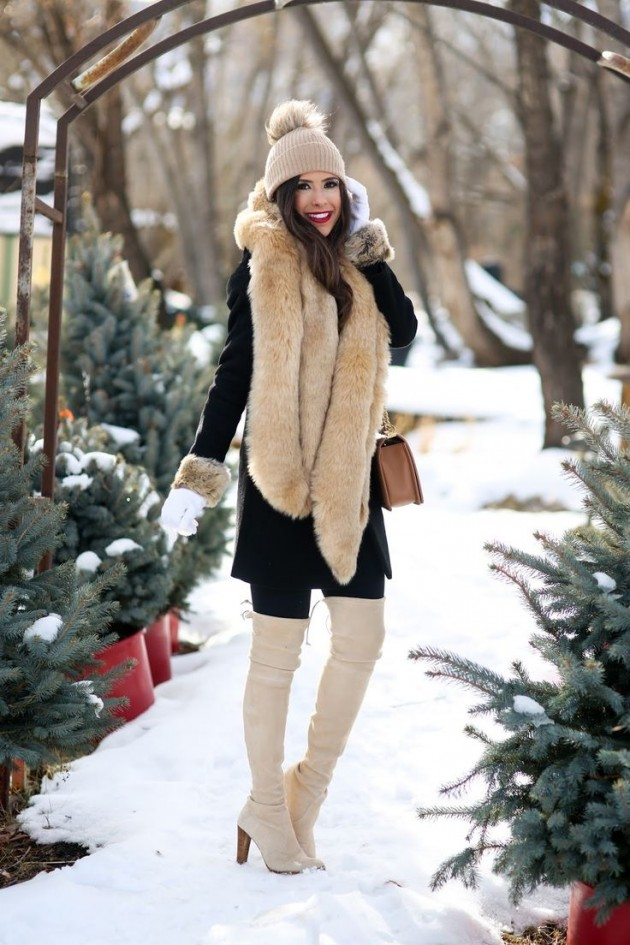 faux fur stole designs