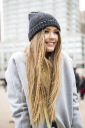 Hair Under Winter Hats Styling Ideas Women Should See 9