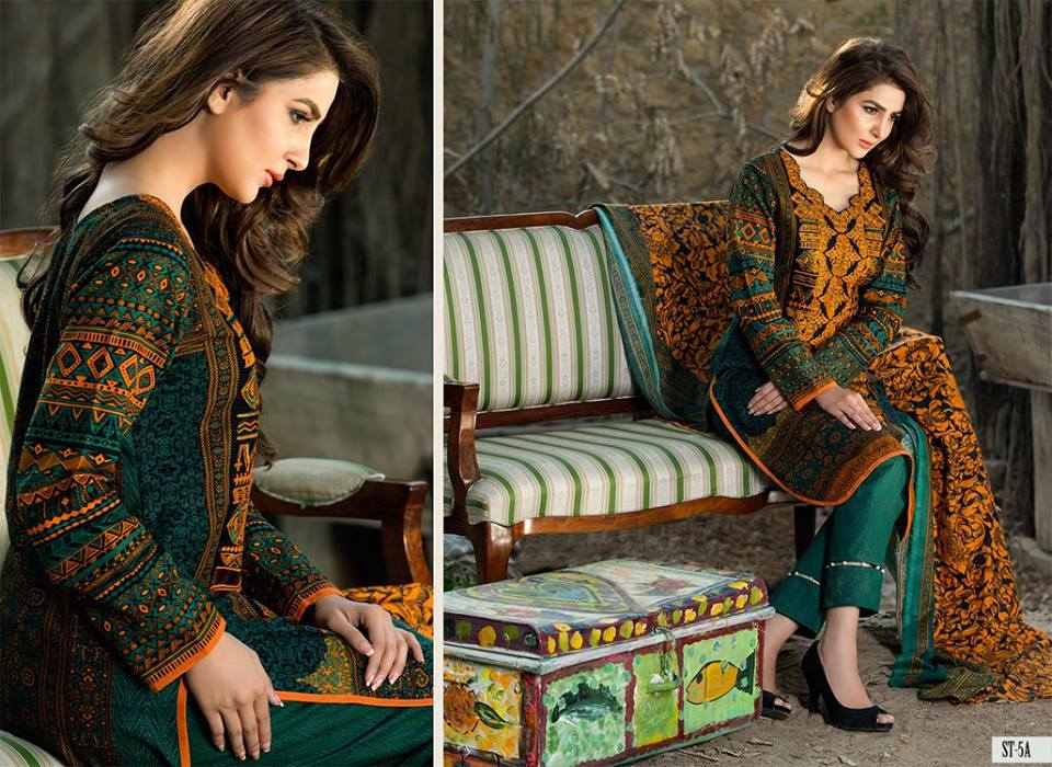 Winter shawl shalwar kameez