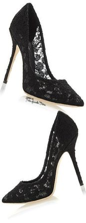 Lace High Heel Shoes To Wear On Parties 5