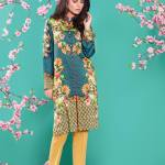 Linen Casual Winter Kurti Cross Stitch Collection 2016 7