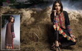 Linen Embroidered Dresses Orient Textile Collection 2016 5