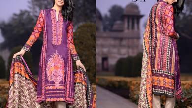 Linen Embroidered Kalyan Dresses ZS Textiles Collection 2016