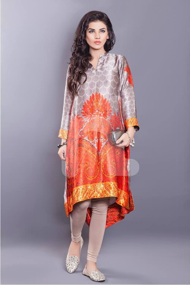 Silk dress in winter