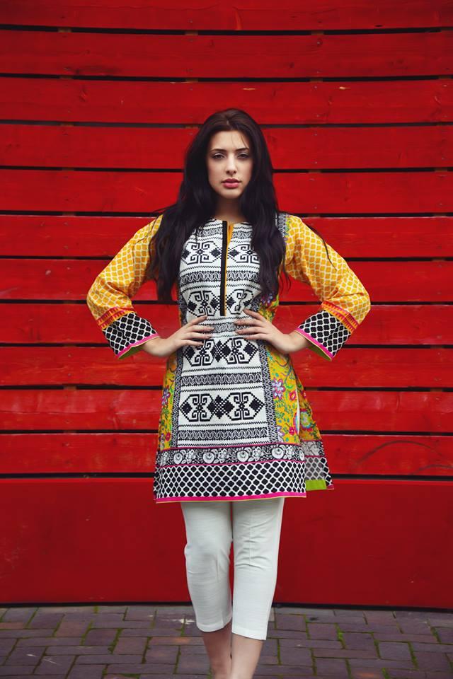 Two Piece Khaddar Pret Collection Nimsay Winter Wear 2015 16