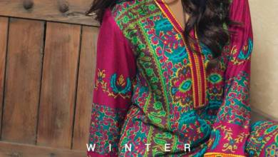 Winter Shawl 3 Piece Collection Klakari Shalwar Kameez 2016