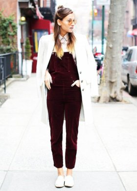 Women Velvet Dresses Winter Casual Street Style Looks 7