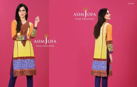 Asim Jofa Summer Tunics Luxury Collection 2016 20