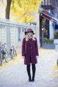 Burgundy Coat Designs Women Should Try This Season 2