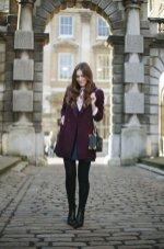 Burgundy Coat Designs Women Should Try This Season 5