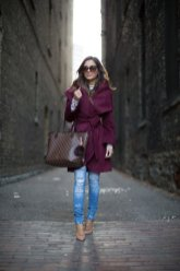 Burgundy Coat Designs Women Should Try This Season 9