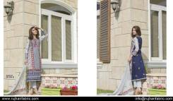 Cambric Embroidered Spring Collection Rujhan Fabrics 2016 2