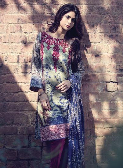 Fancy Embroidered Party Wear Gulaal Collection 2016 10