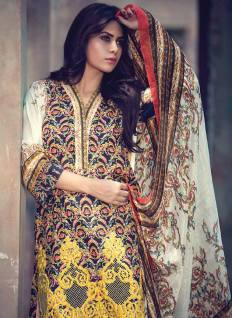Fancy Embroidered Party Wear Gulaal Collection 2016 8