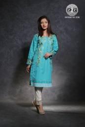 Spring Embroidered Karandi Tunics Collection House Of Zoe 2016 3