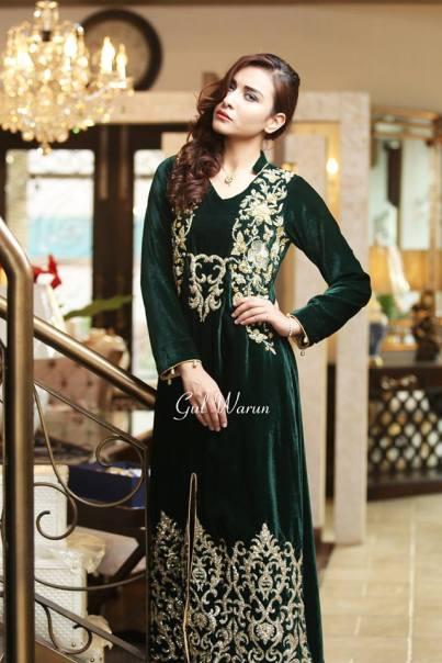 Three Piece Ready To Wear Formal Dresses Gul Warun 2016 12