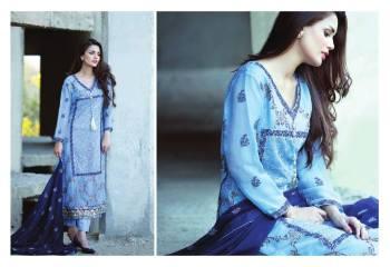 Amna Ismail Semi Stitched Chiffon Spring Collection 2016 11