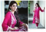 Amna Ismail Semi Stitched Chiffon Spring Collection 2016 6