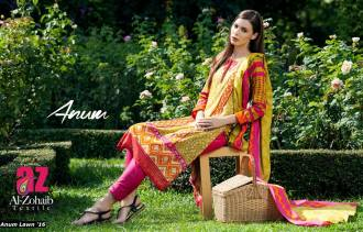 Anum Printed Lawn Dresses Al Zohaib Collection 2016 23
