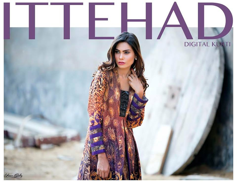 Ittehad textiles summer digital kurtis collection