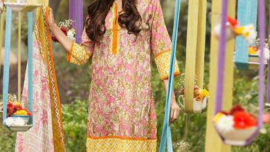Khaadi Lawn Geometric Fusion Summer Collection 2016