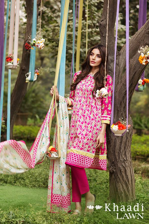Khaadi Lawn Geometric fusion summer collection
