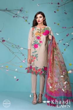 Khaadi Lawn Sun Bleached Neutrals Summer Collection 2016