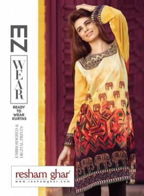 Resham Ghar Ready To Wear Summer Kurtis 2016