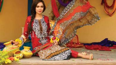 Classic Crinkle Lawn Casual Shalwar kameez Dresses 2016