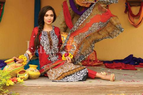 Classic Crinkle Lawn Casual Shalwar kameez Dresses 2016