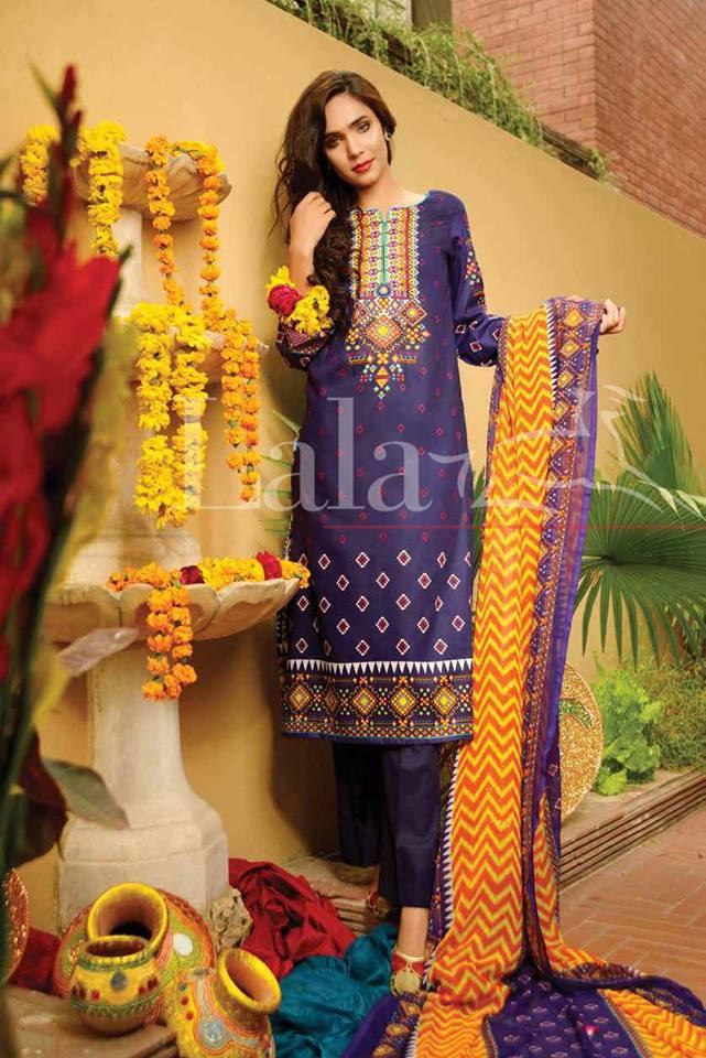 Classic Crinkle Lawn Casual Shalwar kameez Dresses 2016 16