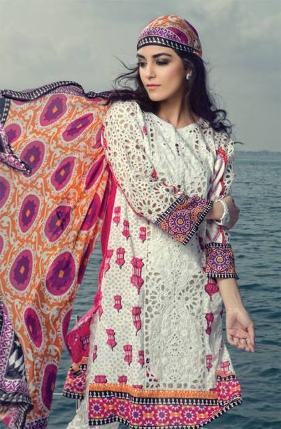 Maria B Summer Lawn Dresses Vol-1 2016 Collection 13
