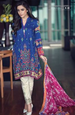 Maria B Summer Lawn Dresses Vol-1 2016 Collection 20