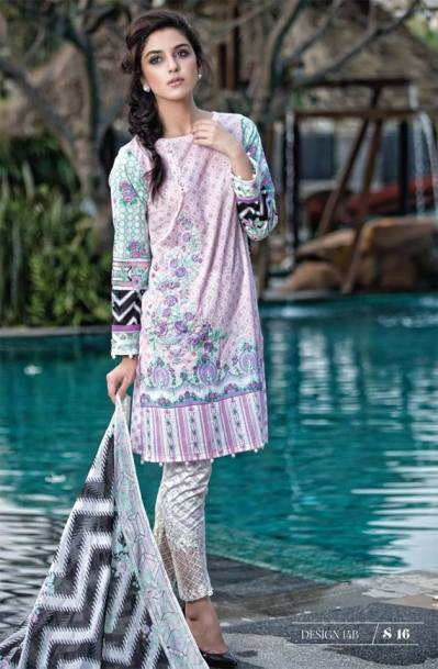 Maria B Summer Lawn Dresses Vol-1 2016 Collection 26