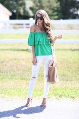 Off The Shoulder Summer Tops Women Casual Wear 5