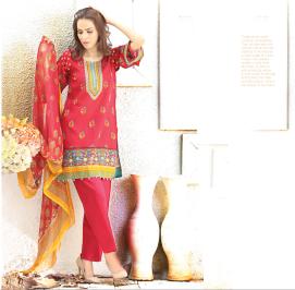 Chiffon Casual Shalwar Kameez Collection By Firdous Fashion 2016 2