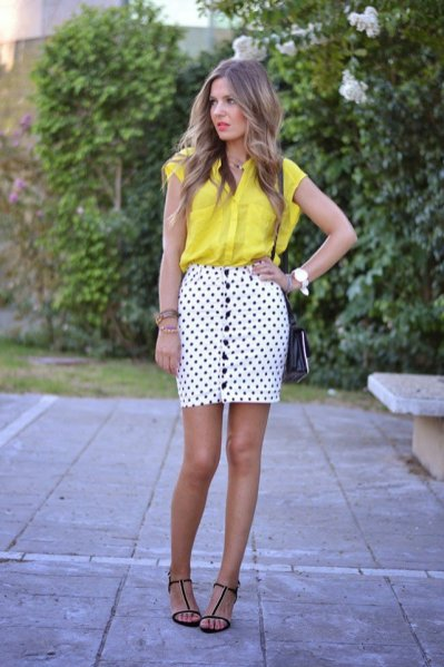 Colorful Polka Dots Summer Outfits Women Should See 5