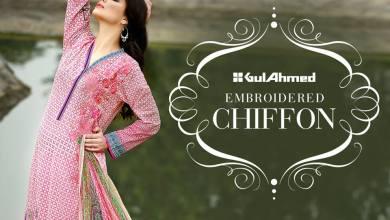 La Chiffon Embroidered Shalwar Kameez 2016