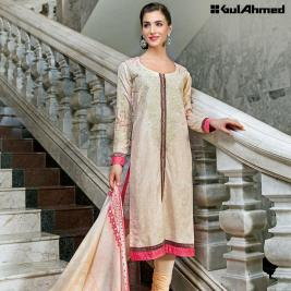 Three Piece Embroidered Lawn Gul Ahmed Collection 2016 4