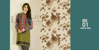 Lala Brocade Embroidered Kurti Collection 2016 2