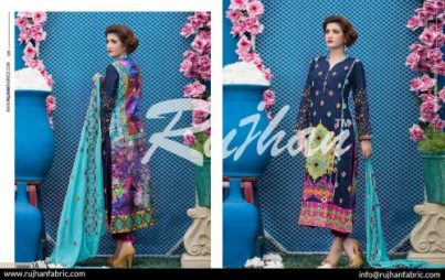 Rujhan Eid Lawn Collection Embroidered Dresses 2016 10