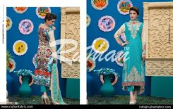 Rujhan Eid Lawn Collection Embroidered Dresses 2016 11