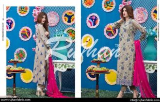 Rujhan Eid Lawn Collection Embroidered Dresses 2016 12