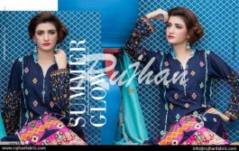 Rujhan Eid Lawn Collection Embroidered Dresses 2016 3