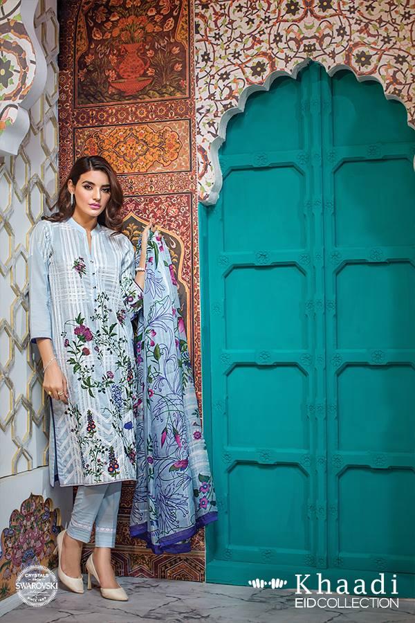 Tropical Paradise Khaadi Eid Lawn Dresses 2016 14