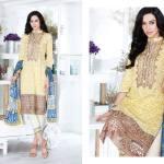 Al Zohaib Mahnoor Eid Lawn Fancy Dresses 2016 3