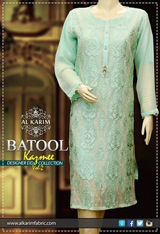 Batool Kazmi Fancy Eid Collection Al Karim Fabrics 2016